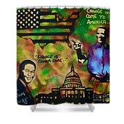 Barack And Sam Cooke Shower Curtain