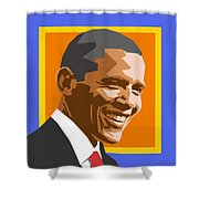 Barack Shower Curtain by Douglas Simonson