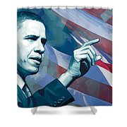 Barack Obama Artwork 2 Shower Curtain