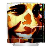 Barack Obama Shower Curtain by Daniel Janda