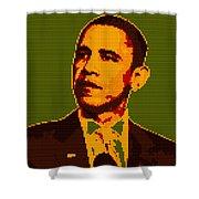 Barack Obama Lego Digital Painting Shower Curtain