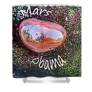 Barack Obama Mars Shower Curtain