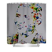 Barack Obama Paint Drops Shower Curtain