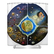Barack Obama Painting Shower Curtain