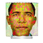 Barack Obama - Maple Leaves Shower Curtain