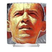 Barack Obama American President - Red White Blue Shower Curtain