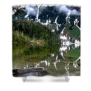 Baranof Lake Shower Curtain