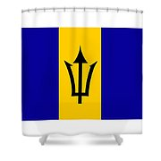 Barbados Flag  Shower Curtain