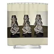 Barbary Macaques Monkeys Shower Curtain