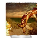 Barbecue On The Beach Shower Curtain