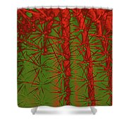 Barbed Abstract II Shower Curtain