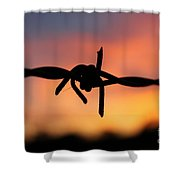 Barbed Silhouette Shower Curtain