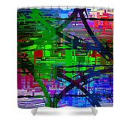 Barbed Wire Cubed 1 Shower Curtain
