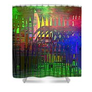 Barbed Wire Cubed 3 Shower Curtain