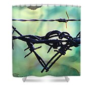 Barbed Wire Love-jealousy 2 Shower Curtain