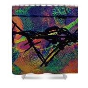 Barbed Wire Love-punch Drunk Shower Curtain