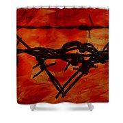 Barbed Wire Love Series  Rage Shower Curtain