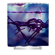 Barbed Wire Love Series The Blues 2 Shower Curtain