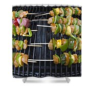 Barbeque Kabobs On Grill Shower Curtain