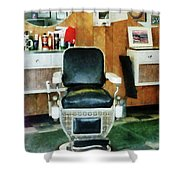 Barber - Barber Chair Front View Shower Curtain