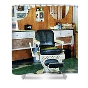 Barber - Barber Shop One Chair Shower Curtain by Susan Savad