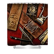 Barber - Barber Tools Of The Trade Shower Curtain