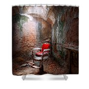 Barber - Eastern State Penitentiary - Remembering My Last Haircut  Shower Curtain