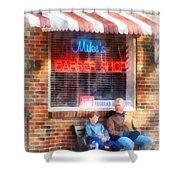 Barber - Neighborhood Barber Shop Shower Curtain