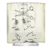 Barber Shears Patent 1927 Shower Curtain