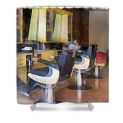 Barber - Small Town Barber Shop Shower Curtain