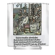 Barber-surgeon, 1568 Shower Curtain