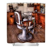 Barber - The Barber Chair Shower Curtain