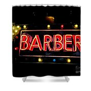 Barber This Way Shower Curtain