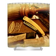 Barber Tools Shower Curtain