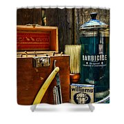 Barber - Vintage Barber Tools  Shower Curtain