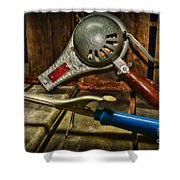 Barber - Vintage Hair Care Shower Curtain