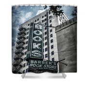 Barbers Book Store Shower Curtain