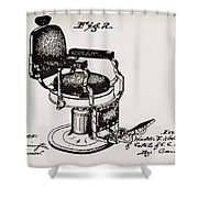 Barbershop Chair Patent Shower Curtain