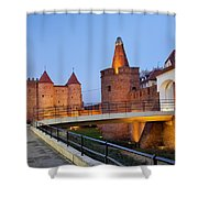 Barbican In The Old Town Of Warsaw Shower Curtain