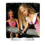 Barbie Escapes Shower Curtain