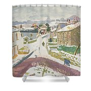 Barbon In The Snow Shower Curtain