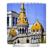 Barcelona Architecture Shower Curtain