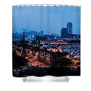 Barcelona At Night  Shower Curtain