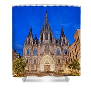 Barcelona Cathedral At Night Shower Curtain