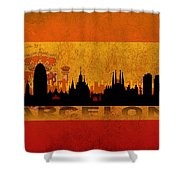 Barcelona City Shower Curtain