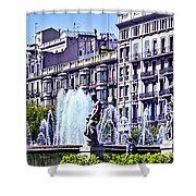 Barcelona Fountain Shower Curtain