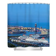 Barcelona Panorama Shower Curtain