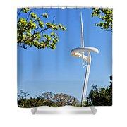 Barcelona Tv Tower/sun Dial Shower Curtain