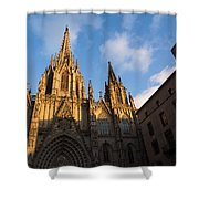 Barcelona's Marvelous Architecture - Cathedral Of The Holy Cross And Saint Eulalia Shower Curtain