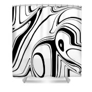 Barcode 3d  C2014 Shower Curtain by Paul Ashby